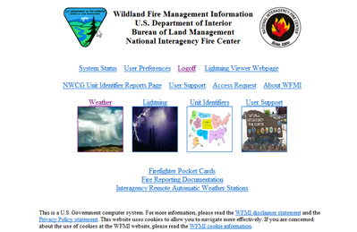 Wildland Fire Mangement Information (WFMI)